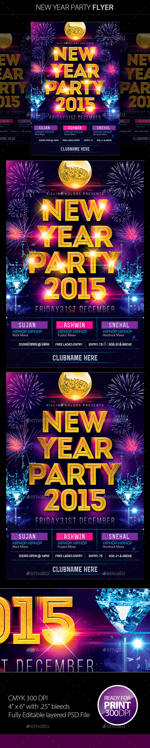 GraphicRiver New Year Party Flyer 9723803