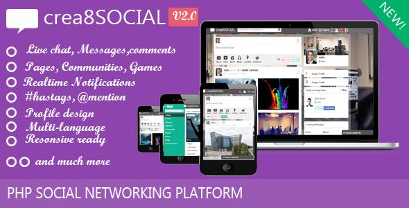 crea8social PHP Social Networking Platform v2.0