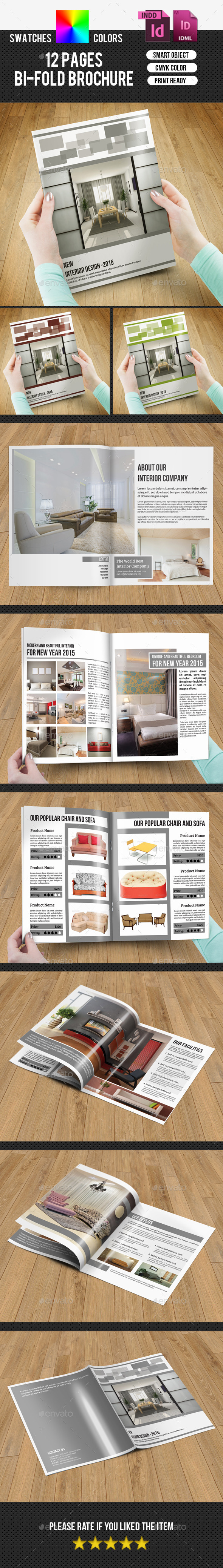 GraphicRiver Bifold Brochure for Interior Design-V173 9724001
