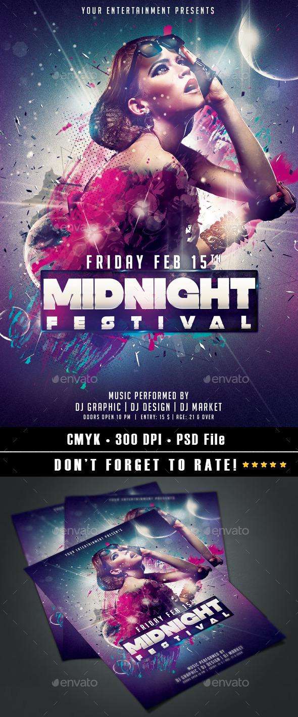 GraphicRiver Midnight Festival 9724289