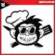 Monkey Cool Cheef Logo - GraphicRiver Item for Sale
