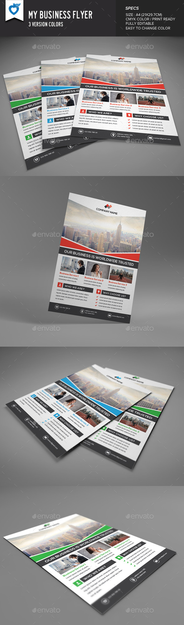 GraphicRiver My Business Flyer 9724322