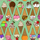 Seamless Pattern of Ice Cream Corns - GraphicRiver Item for Sale