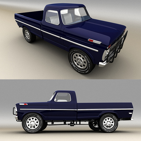 3DOcean Blue Pickup 9724462