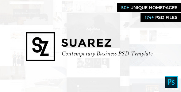ThemeForest Suarez Contemporary Business PSD Template 9724585