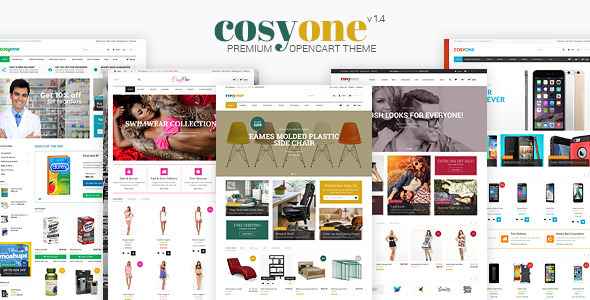 CosyOne is a premium responsive and retina-ready OpenCart theme that combines a modern design and a very powerful backend interface. It's extremely custo