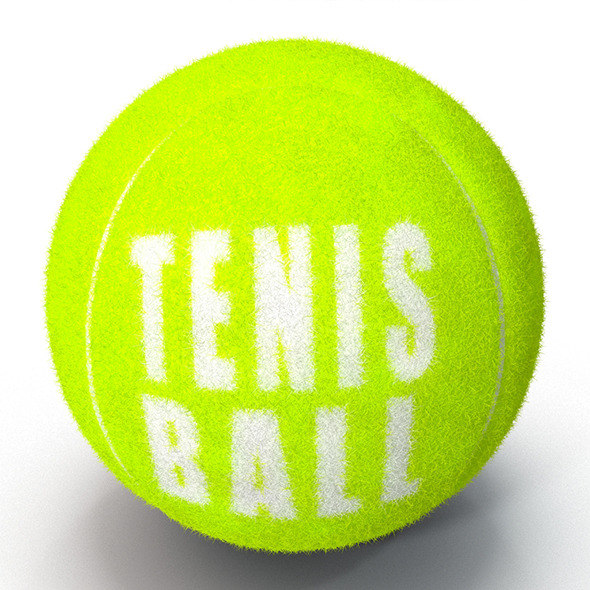 3DOcean Tenis Ball Fur&Furry 9724595
