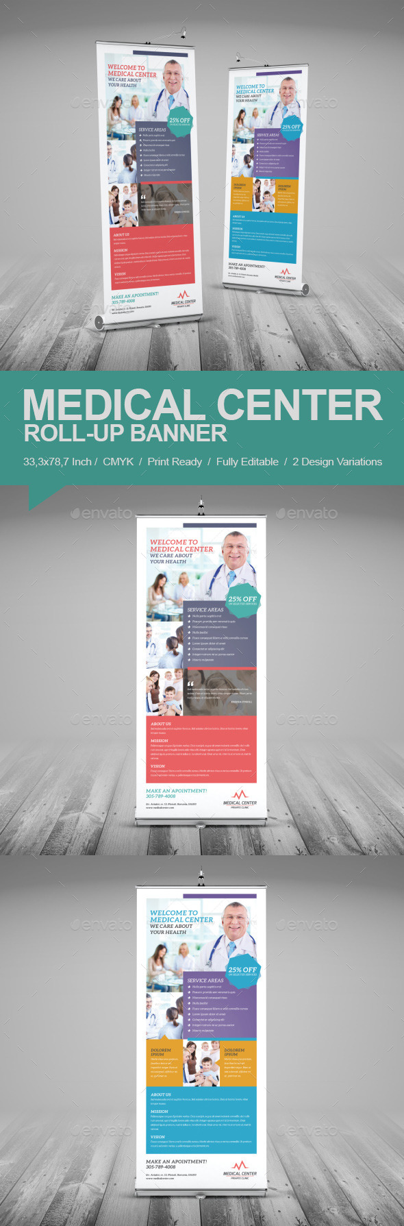 GraphicRiver Medical Center Roll-Up Banner 9724651