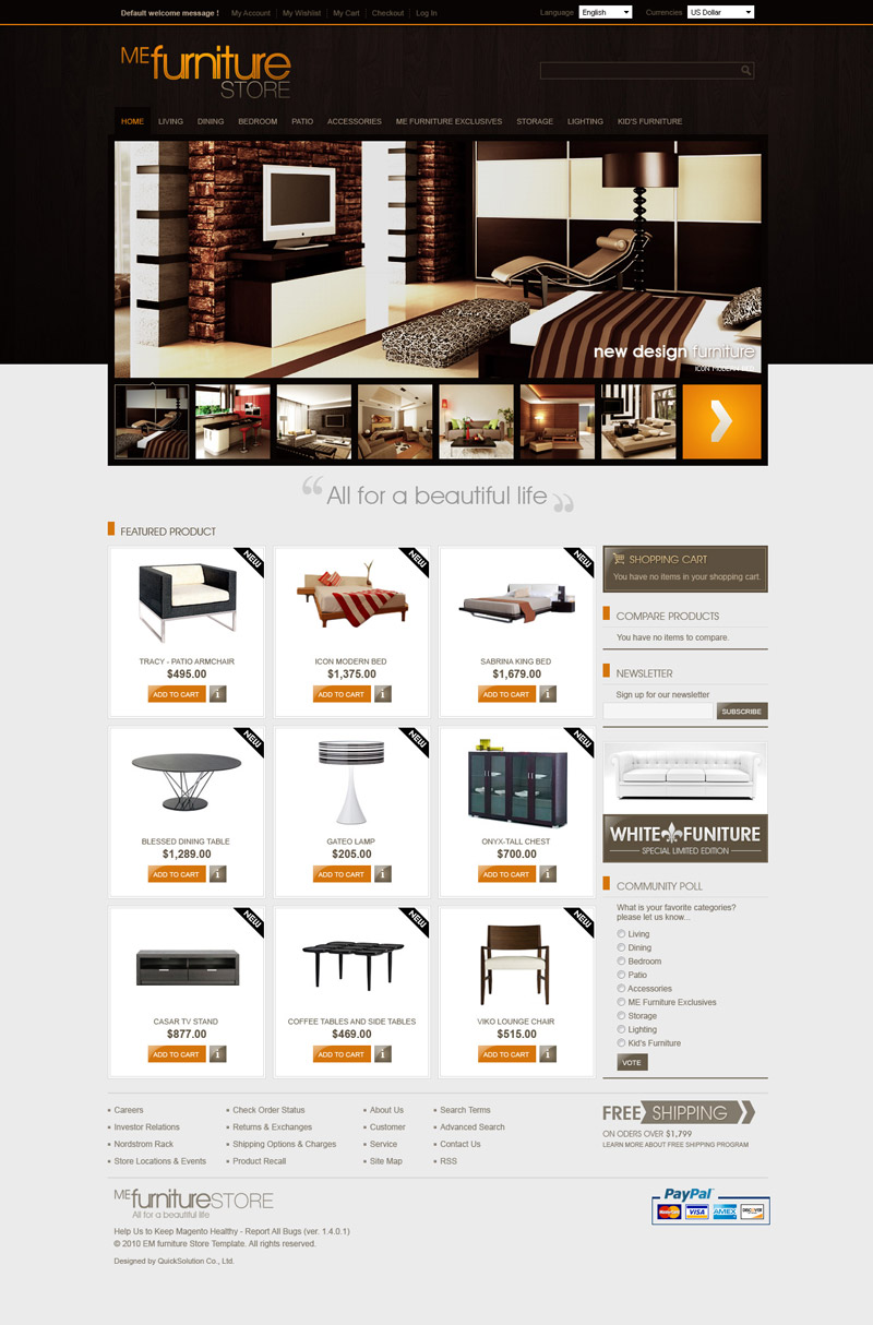 furniture stores websites best furniture websites design