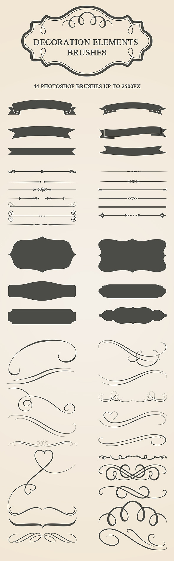 GraphicRiver Decoration Elements Brushes 9724687