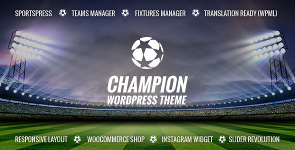ThemeForest Champion Soccer & Football WordPress Theme 9451661