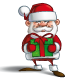 Happy Santa - Holding a Gifts - GraphicRiver Item for Sale
