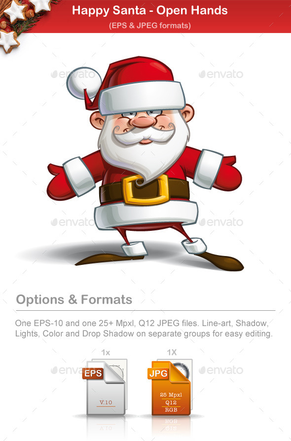 GraphicRiver Happy Santa Open Hands 9724810