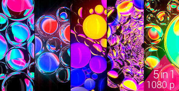 Refracting Spheres VJ Pack 120bpm