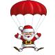 Happy Santa - Parachute Open Hands - GraphicRiver Item for Sale