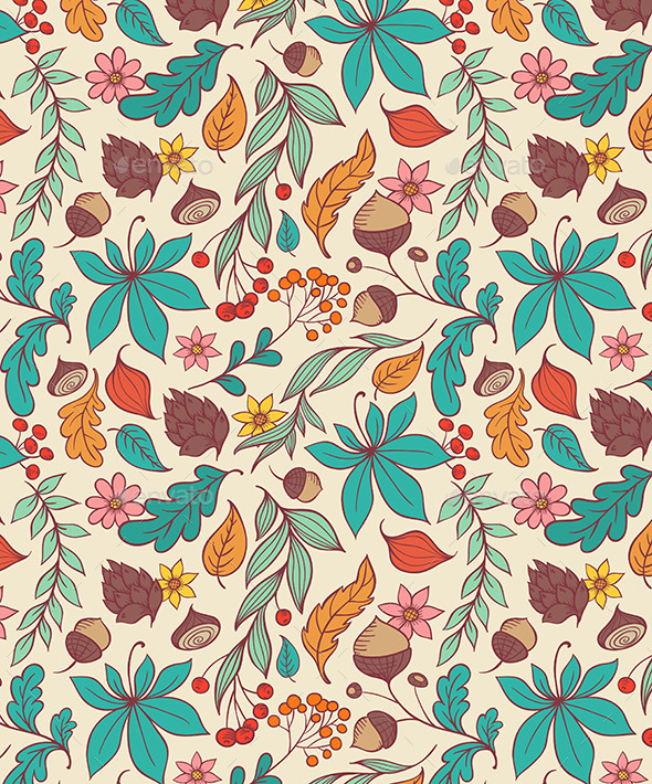 GraphicRiver Autumn Seamless Pattern 9724890