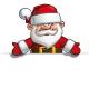 Happy Santa - Empty Label Open Hands - GraphicRiver Item for Sale