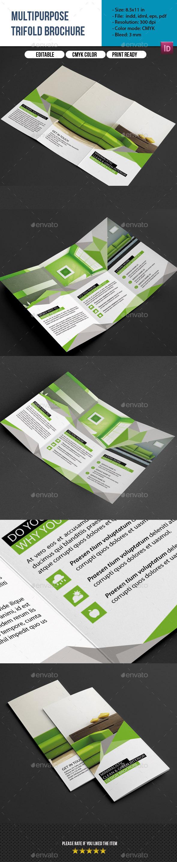 GraphicRiver Multipurpose Trifold Brochure 9724984