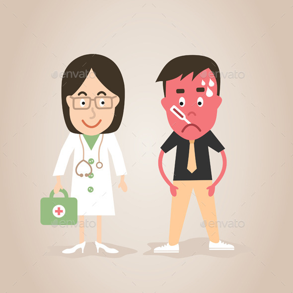 GraphicRiver Doctor and Patient 9725021