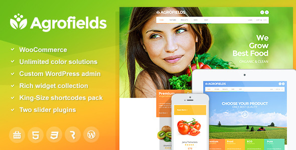 ThemeForest Agrofields Food Shop & Grocery Market WP Theme 9725100