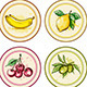 Vintage Labels with Fruits - GraphicRiver Item for Sale