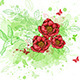 Abstract Background with Red Flowers - GraphicRiver Item for Sale
