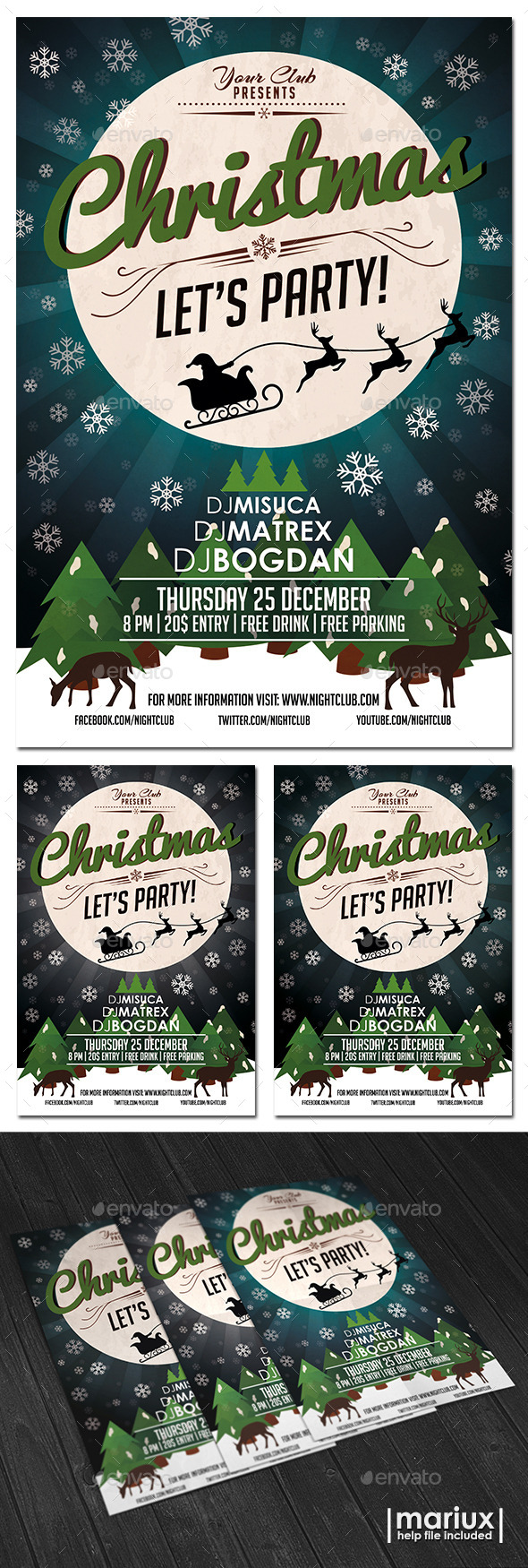 GraphicRiver Christmas Party Flyer 9725436