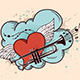 Red Heart and Trumpet - GraphicRiver Item for Sale