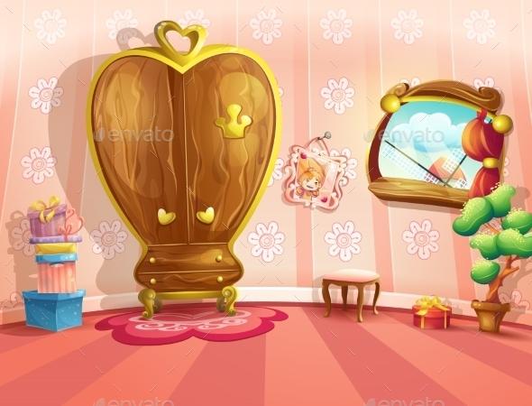 GraphicRiver Princess Bedroom 9725488