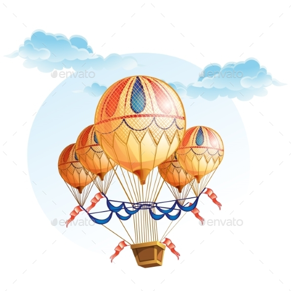 GraphicRiver Image of a Hot Air Balloon in the Sky 9725546