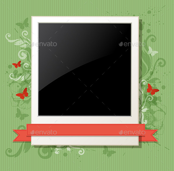 GraphicRiver Green Background with Photo 9725707