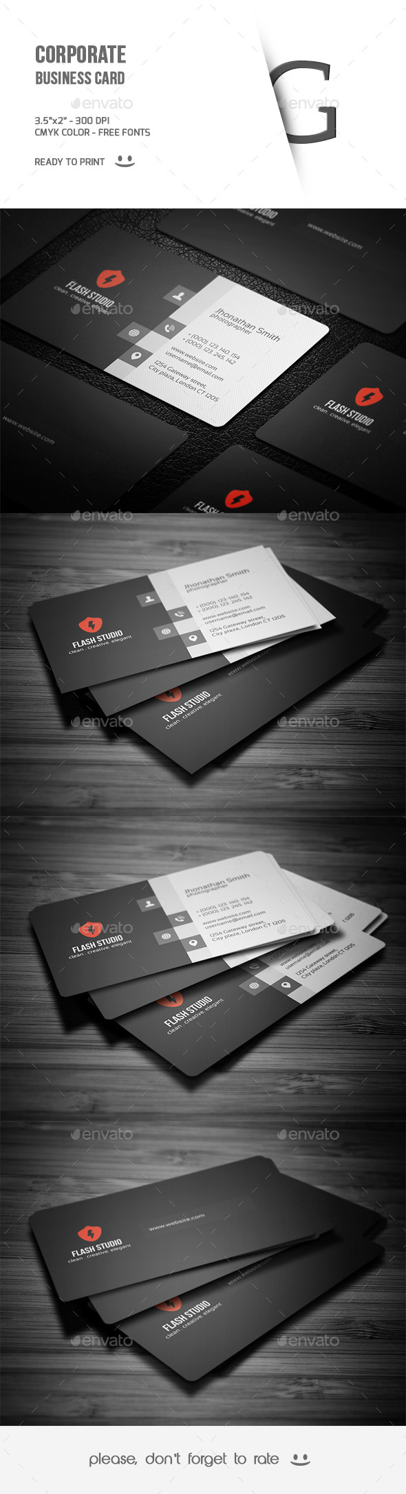 GraphicRiver Corporate Business Card 9725724
