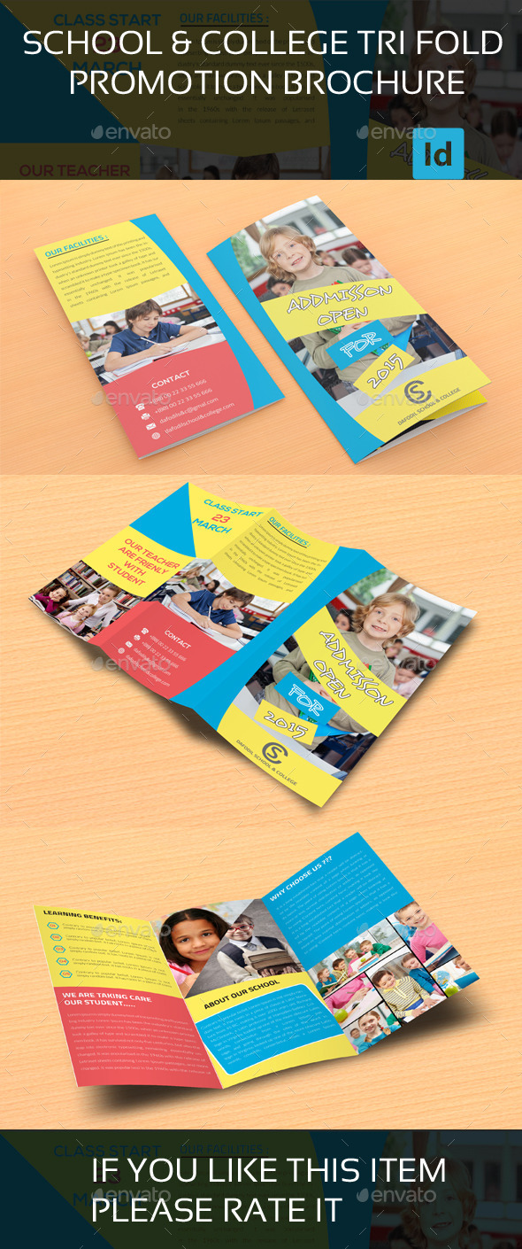GraphicRiver Junior School & College Promotion Trifold Brochure 9725803