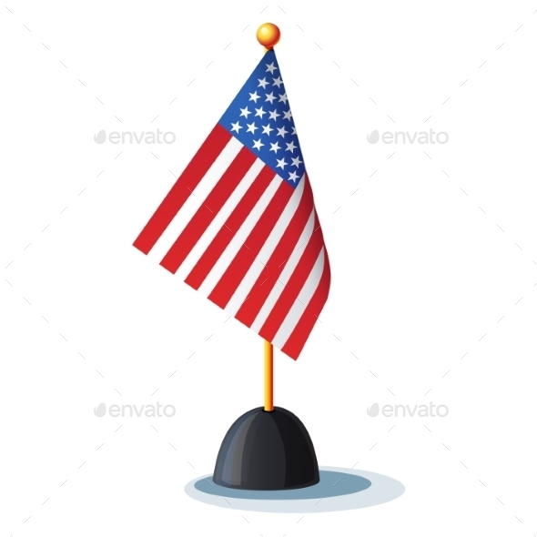 GraphicRiver American Flag on a Stand 9725830