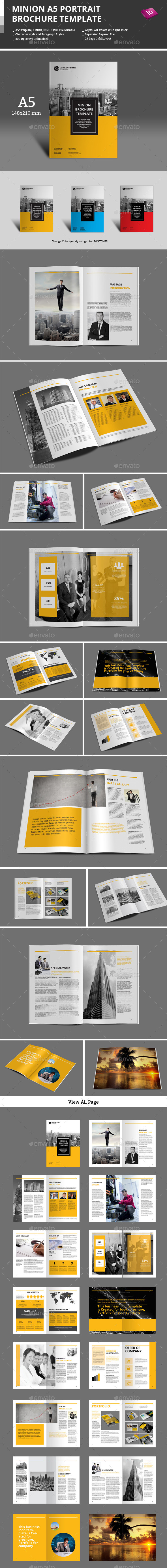 Minion A5 Portrait Brochure Template