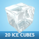 On the Rocks ( 20 Ice Cubes ) - GraphicRiver Item for Sale