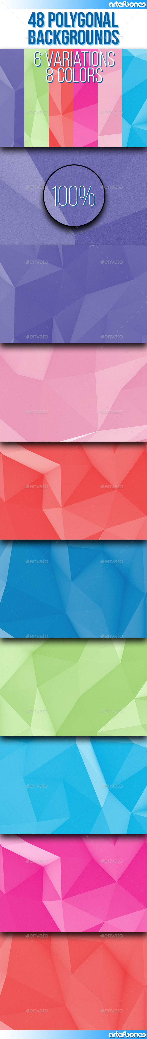 GraphicRiver 48 Polygonal Backgrounds Vol.5 9725871