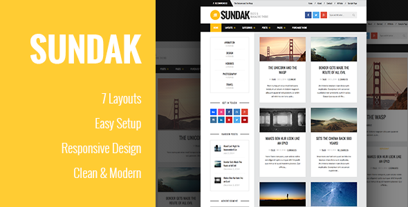 ThemeForest Sundak Blog and Magazine Theme 9725940