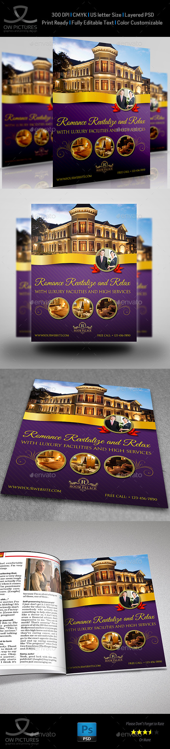 GraphicRiver Hotel Flyer Template 9725943