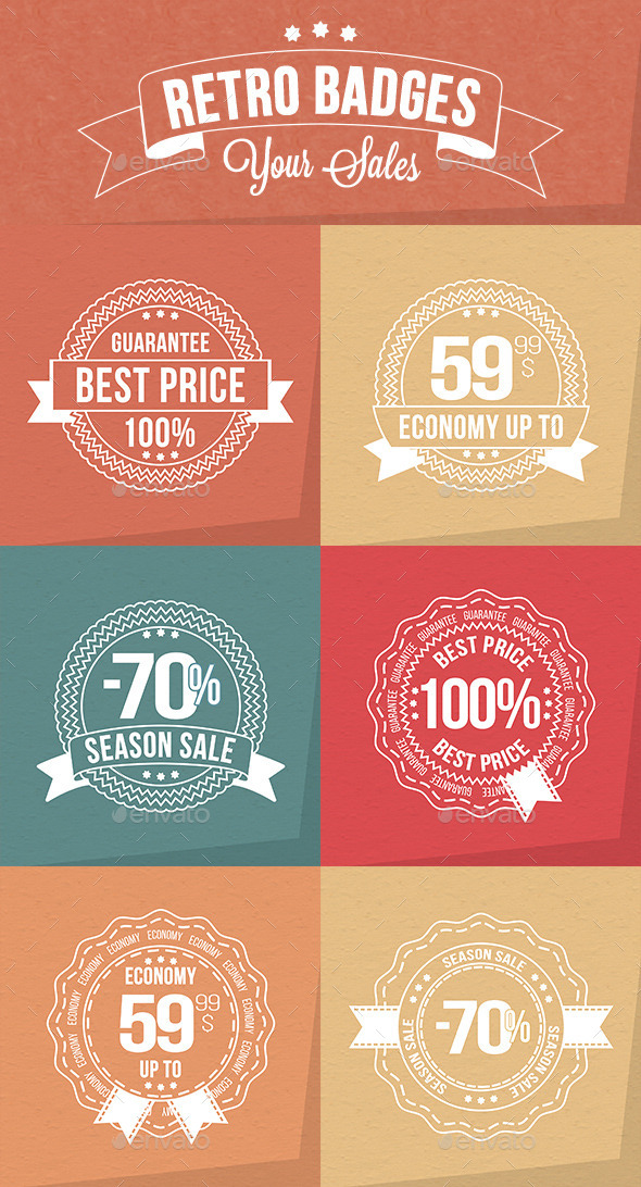 GraphicRiver Retro Sale Badges 9695842