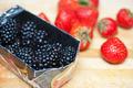 Fresh strawberries and blackberries - PhotoDune Item for Sale