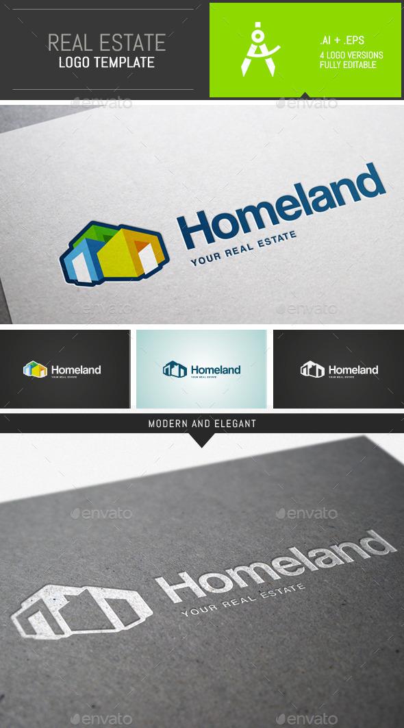 Modern Real Estate Logo Template