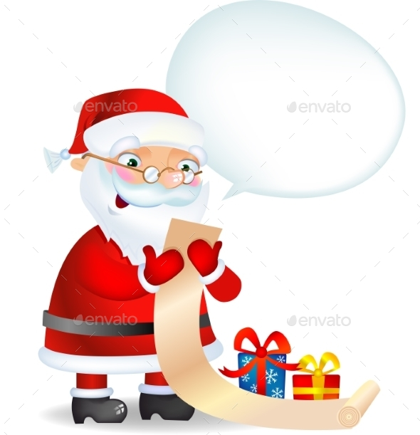 GraphicRiver Santa Claus Checking his List 9726112