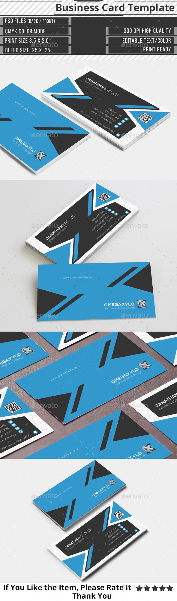 GraphicRiver Elegant Corporate Business Card 9726225