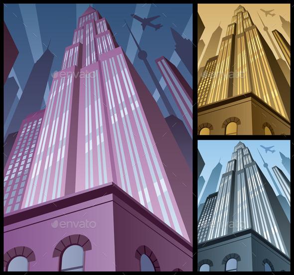 GraphicRiver Vertical Cityscape 9726289