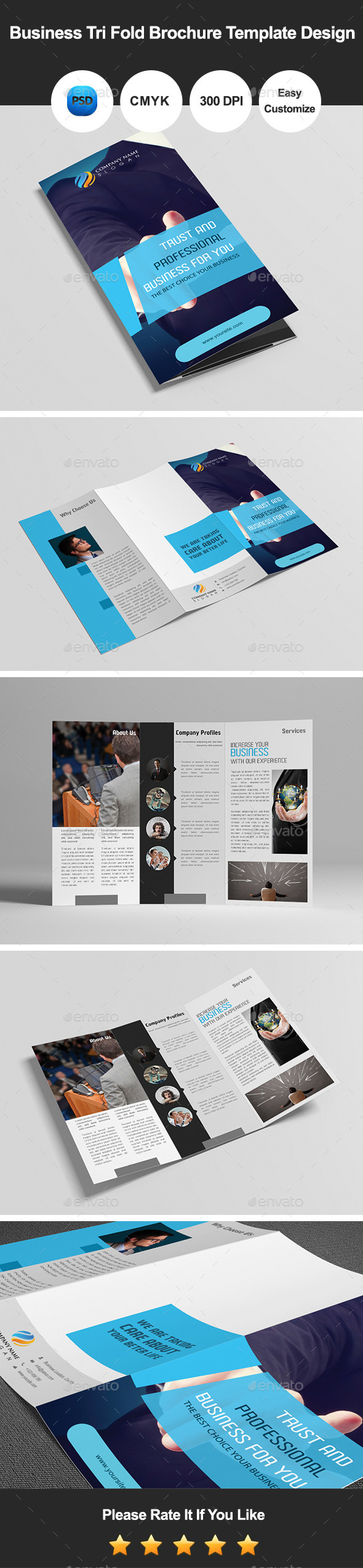 GraphicRiver Business Tri Fold Brochure Template Design 9726306