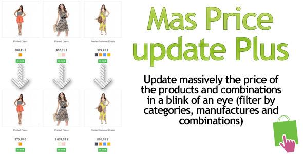Prestashop MassPriceupdate-Plus Module - CodeCanyon Item for Sale