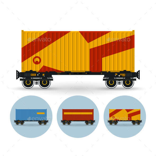 GraphicRiver Set of Railway Containers 9726340