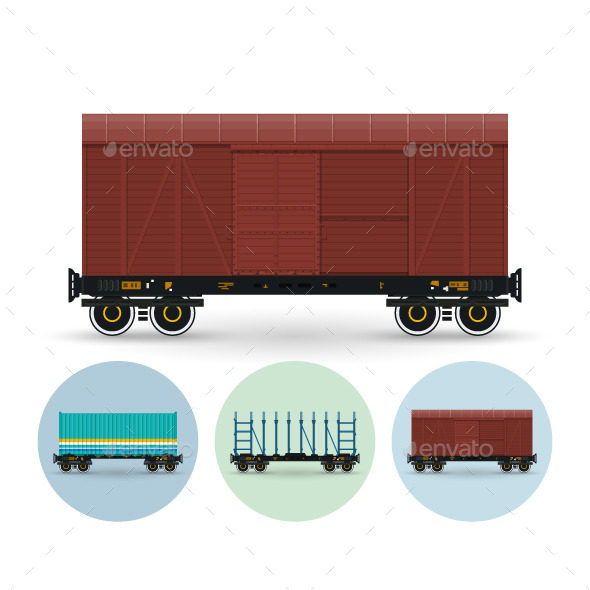 GraphicRiver Set of Freight Cars 9726344