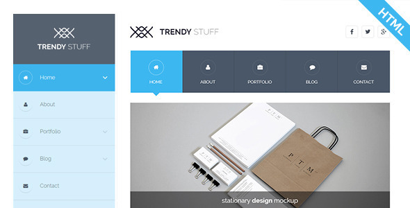 ThemeForest Trendy Stuff Responsive Business HTML5 Template 9697267